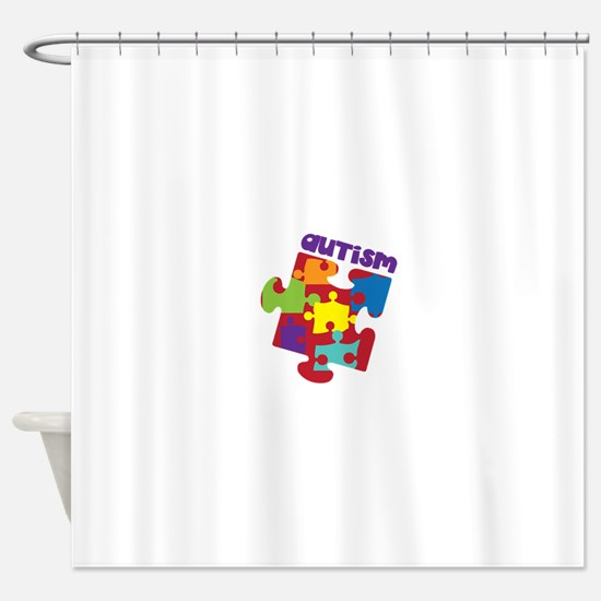 Autism Shower Curtain