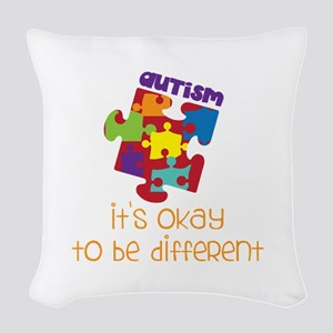 its okay to be different Woven Throw Pillow