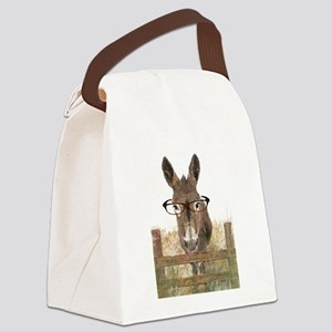 Humorous Smart Ass Donkey Painting Canvas Lunch Ba