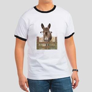 Humorous Smart Ass Donkey Painting T-Shirt