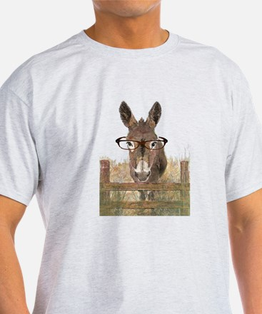 Humorous Smart Ass Donkey Painting T-Shirt