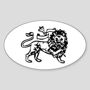 Reggae Lion Oval Sticker