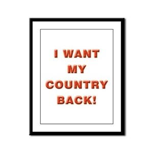 My Country Framed Panel Print