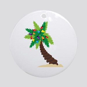 Christmas Palm Tree Ornament (Round)