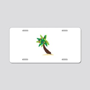 Christmas Palm Tree Aluminum License Plate