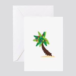 Christmas Palm Tree Greeting Cards