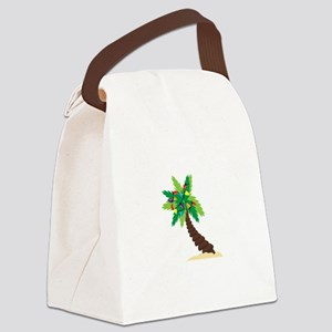 Christmas Palm Tree Canvas Lunch Bag