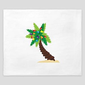 Christmas Palm Tree King Duvet