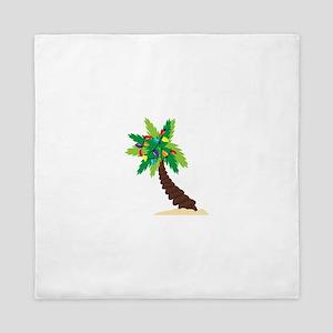 Christmas Palm Tree Queen Duvet