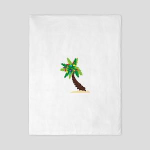 Christmas Palm Tree Twin Duvet