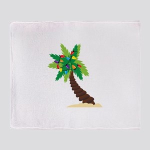 Christmas Palm Tree Throw Blanket