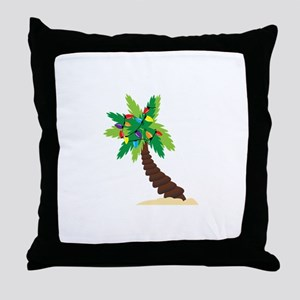 Christmas Palm Tree Throw Pillow