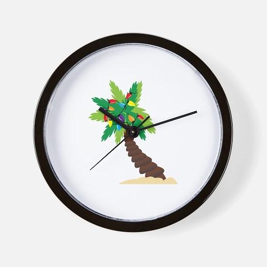 Christmas Palm Tree Wall Clock