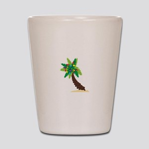 Christmas Palm Tree Shot Glass