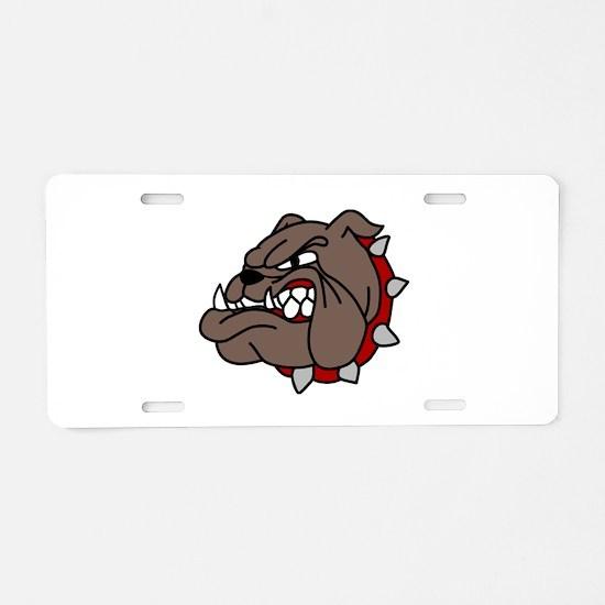Bulldog Aluminum License Plate