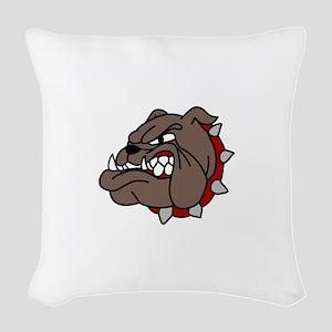 Bulldog Woven Throw Pillow