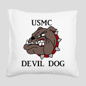USMC DEVIL DOG Square Canvas Pillow