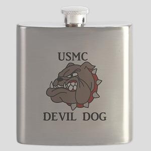 USMC DEVIL DOG Flask