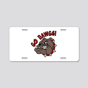 GO DAWGS! Aluminum License Plate