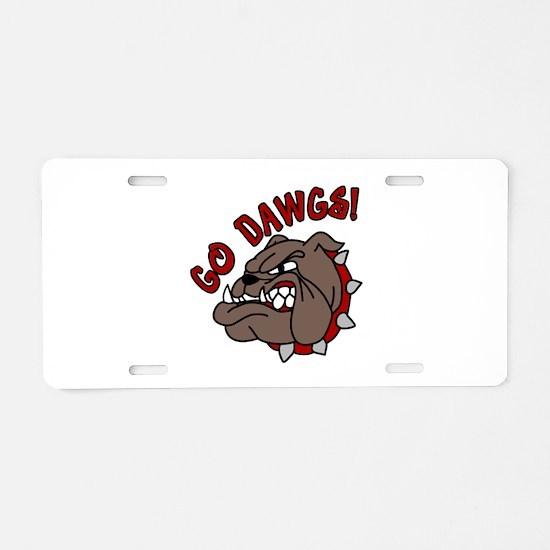 GO DAWGS! Aluminum License Plate