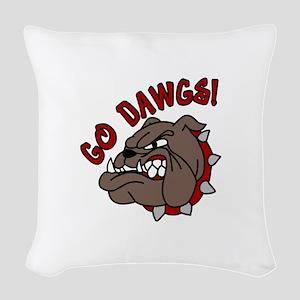 GO DAWGS! Woven Throw Pillow