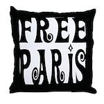 FREE PARIS Throw Pillow
