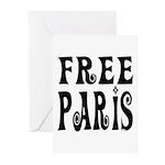 FREE PARIS Greeting Cards (Pk of 10)