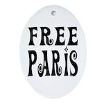FREE PARIS Oval Ornament