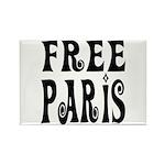 FREE PARIS Rectangle Magnet