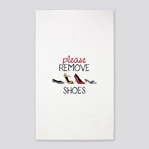 PLEASE REMOVE SHOES 3'x5' Area Rug