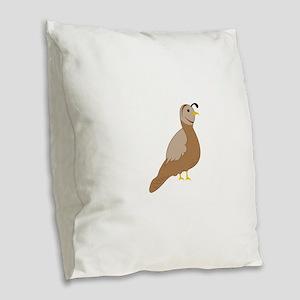 Quail Burlap Throw Pillow