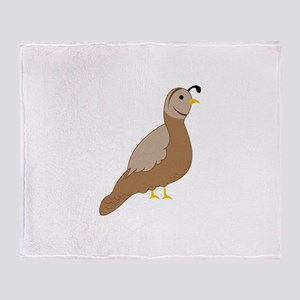 Quail Throw Blanket