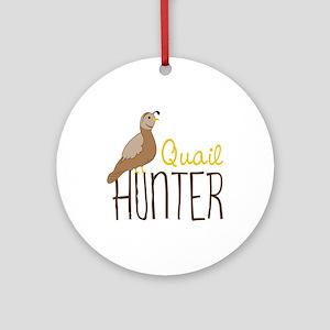 Quail Hunter Ornament (Round)