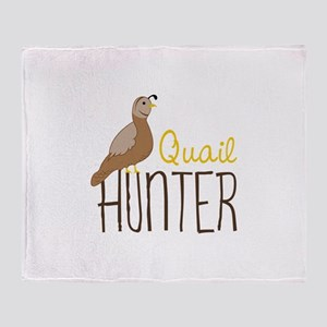 Quail Hunter Throw Blanket