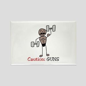 Caution: GUNS Magnets