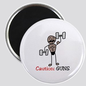 Caution: GUNS Magnets