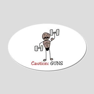 Caution: GUNS Wall Decal