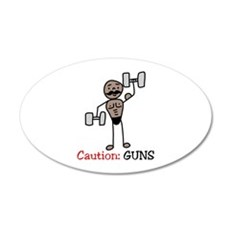 Caution: GUNS Wall Decal