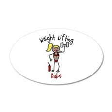 Weight Lifting Babe Wall Decal