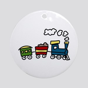 Choo-Choo Train Ornament (Round)