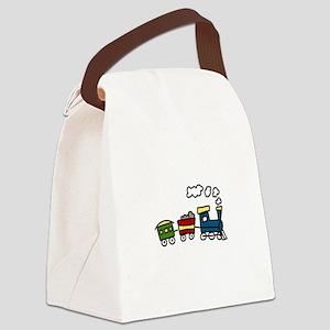 Choo-Choo Train Canvas Lunch Bag