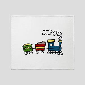 Choo-Choo Train Throw Blanket