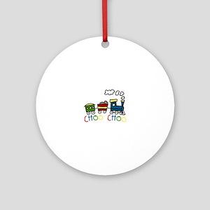 Choo Choo Ornament (Round)