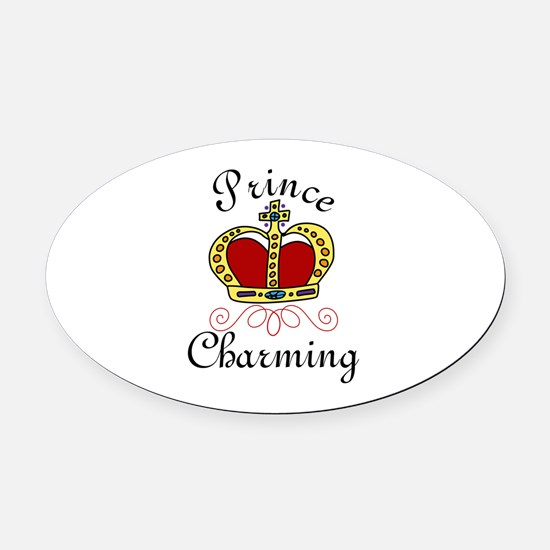 Prince Charming Oval Car Magnet