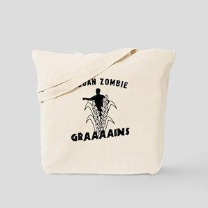 Vegan Zombie Grains Tote Bag