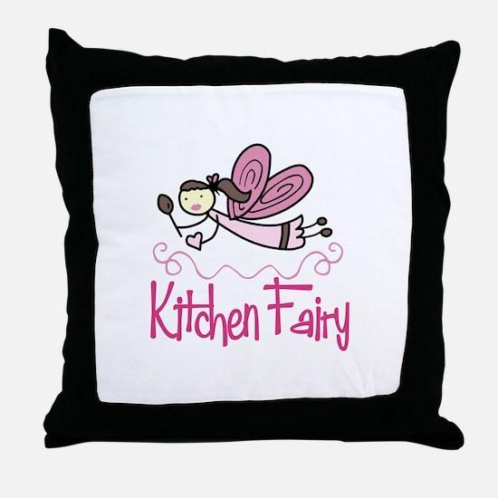 KITCHEN FAIRY Throw Pillow