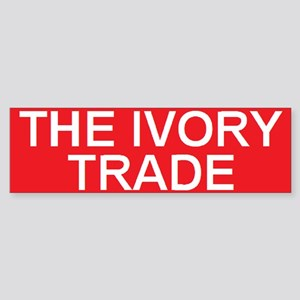 stop the ivory trade Bumper Sticker