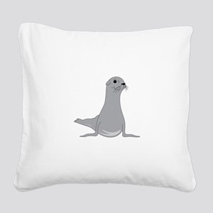 Seal Square Canvas Pillow