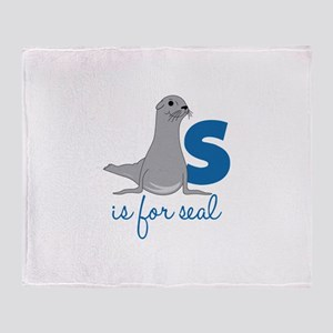 S Is For Seal Throw Blanket