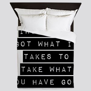 IRS Weve Got What It Takes Queen Duvet